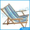 Da cadeira de dobradura ocasional da praia da cabana do telescópio listra azul/branca,