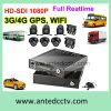 Solutions mobiles de télévision en circuit fermé de véhicule avec 4/8 WiFi de rail 3G/4G des appareils-photo 1080P GPS