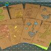 Tarjetas de papel Brown Kraft de la boda de papel de Whoelsale de la invitación de encargo de la muestra