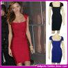 Atadura nova Dress/Clothing da luva do tampão da forma 2014 mais o tamanho sobre o vestido Red/Black/Blue/White de Bodycon do joelho
