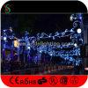Luzes montadas Pólo ao ar livre do Natal para a decoração da rua