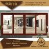 Раздвижная дверь перегородки двойного слоя стеклянная алюминиевая для нутряного украшения
