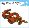 Manufacturer 15-Year Metal Dragon Badge con Soft Cloisonne e Glitter (badge-145)