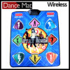 Wireless 16 Bit Graphics TV PC Plug & Play Single Player Dance Pad with 180 Songs