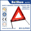 Soporte amonestador Emergency plástico blanco rojo del triángulo de la seguridad del camino