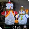Muñeco de nieve de acrílico de la decoración al aire libre LED