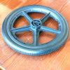 16X1.75 16X2.125 PU-Schaumgummi-flacher freier Fahrrad-Gummireifen mit PP/ABS/PA oder Aluminiumlegierung-Felge