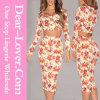 Cream пестротканый флористический комплект юбки