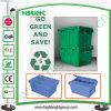 Logística de plástico apilables y encajables cajas móviles