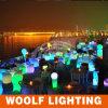 Muebles iluminados LED coloridos del restaurante de la manera al aire libre