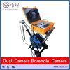 Eine 360 Grad-Ansicht Borewell Kamera das 300 Meter-Kabel-Wasser-Vertiefungs-Kamera mit Seitenansicht und sehen unten an