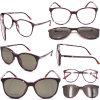Nouveau design Clip magnétique sur les verres de lunettes de soleil polarisées Châssis optique lunettes de haute qualité