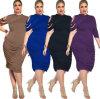Женщины полиэфира OEM сексуальные большие плюс платье размера