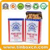 Het rechthoekige Metaal voorzag het Tin van de Hond voor het Voedsel voor huisdieren van de Verpakking van een scharnier Behandelt