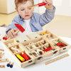 Les enfants de l'éducation cadeau de Noël du charpentier en bois Jeu de prétendre que les jouets en bois