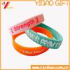 Großverkauf kundenspezifischer Deboss festes Silikonfördernder Wristband (XY-WB-03)
