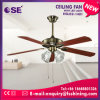 Projeto novo ventilador de teto decorativo de 52 polegadas com luz (HgJ52-1401)