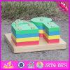 Gioco geometrico di legno di Jenga dei 2016 capretti all'ingrosso, gioco geometrico di legno W13D107 di Jenga dei bambini educativi
