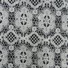 型の白い宝物かぎ針編みの綿のレースファブリック(L5132)