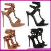 2015 zapatos atractivos de la sandalia de las últimas de la manera señoras del estilo. Talón de la marca de fábrica de las mujeres el alto calza los zapatos (H2014)
