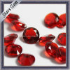 Glass di cristallo Color Scuro-rosso Round Bead per Fashion Jewelry