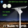 80W 15m Sensor Area IP65 Bridgelux Solar Road Lamp