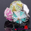 De veelkleurige Ring van Bergkristallen Lastest (BH0315)