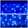 Cortina azul clara del centelleo del LED