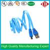 Пользовательская функция Smile Face LED Micro USB-кабель передачи данных