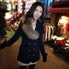 *L*/chaqueta de abrigo (120012) (con collar de piel)