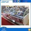 Congélateur italien d'étalage de crême glacée avec les baquets libres de Gelato
