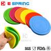 Ensemble de disque de volant Chien de jeu en plein air Jouets pour animaux de compagnie Frisbee en silicone