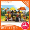 Großer moderner bunter Kind-Plastik schiebt im Freienspielplatz-Gerät