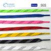 Cordones trenzados del patín del hockey de la venta del globo de la cuerda plana impermeable caliente del algodón con extremidades acústicas