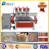 Customized Multi-Four Heads CNC Router Round Woodworking Gravure Meuble / Porte