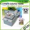 Las más nuevas ideas de la pequeña empresa T-shirt Máquina de impresión del trazador de inyección de tinta de la materia textil 3D