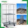 En zinc plaqué de Wire Mesh conteneur chariot roulant