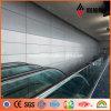 Painel composto plástico de alumínio da decoração da parede interior de Supermaket