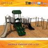 옥외 운동장 오락 장비 진한 녹색 Slide&Climber