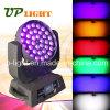 36 * 18W 6in1 zoom RGBWA + UV LED de iluminación de la etapa
