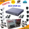 Kit DVR Standalone 8 canais com a Sony 1200 TVL Camera