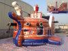 Clásico inflable barco pirata y el barco pirata