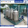 L'eau graisseuse de coalescer de traitement des eaux résiduaires séparant le matériel