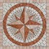 Het Vierkante Medaillon van het Mozaïek van de Steen van de rots