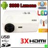 인조 인간 WiFi 영사기 LCD 3000 루멘 (H2)