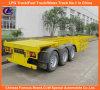 3-Axle resistente Skeletal Container Truck Trailer