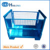 Heavy Duty Foldable Steel Shipping Pallet Cage Metal Stillage
