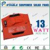 Alto caricatore a energia solare leggero del pannello di Efficienty Sunpower per il iPhone, iPad, ridurre in pani (PETC-H13)
