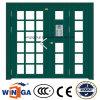 Nonstanrd Größen-Schwingen-Sicherheits-Eingangs-Stahlglastür (W-GD-33)