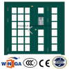 Nonstanrdのサイズの振動機密保護の入口の鋼鉄ガラスドア(W-GD-33)